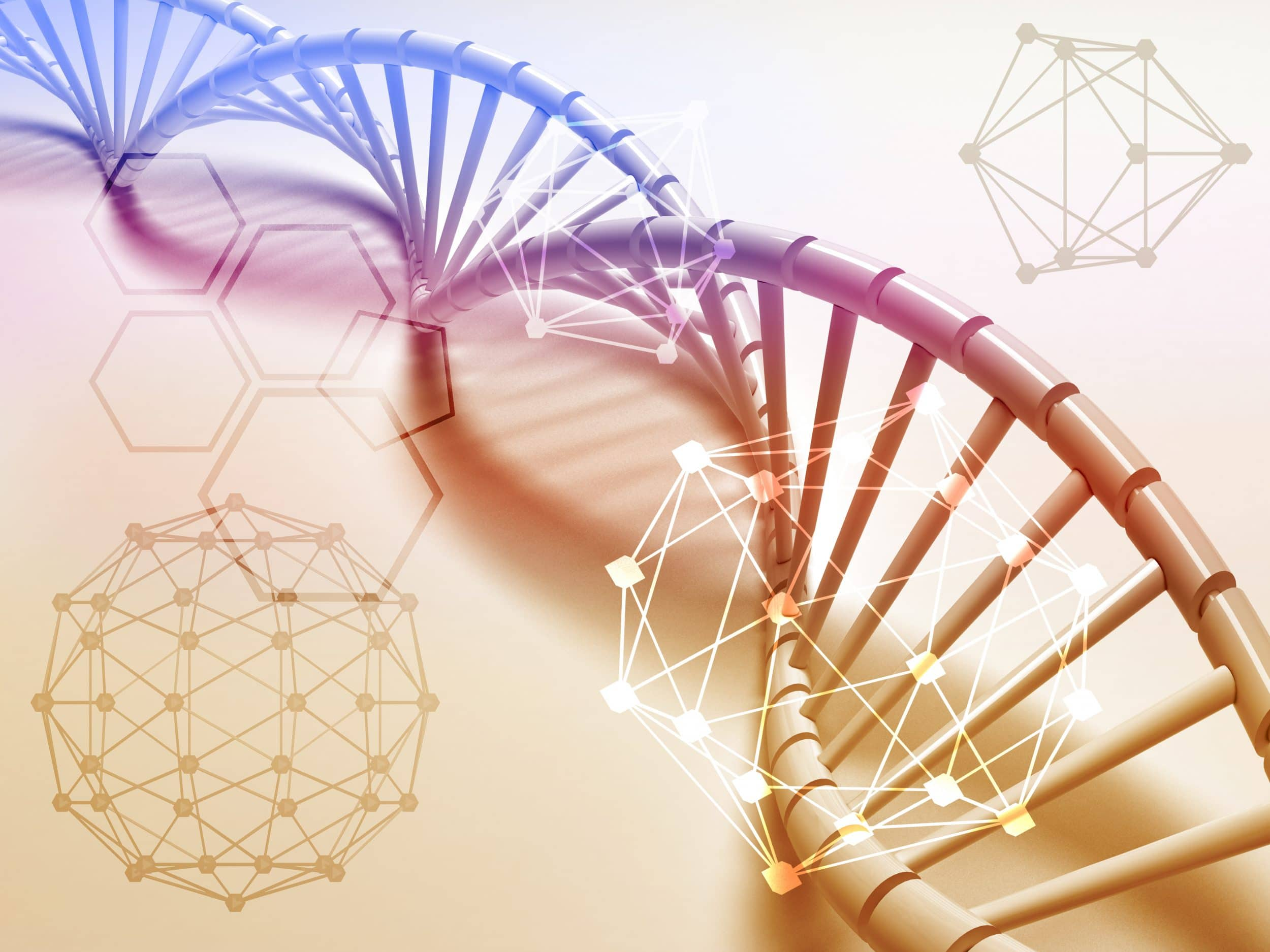 Dna,Structure,Abstract,Concept,With,Chemical,Polygon.